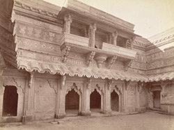 Eastern face of Inner Court yard of Man Mandir, Gwalior Fort.